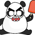 angry zombie panda by shortstack