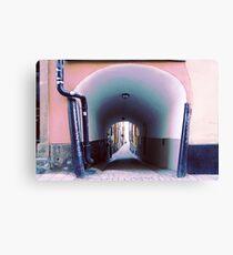 Stockholm. Blue Passage in Gamla Stan Canvas Print