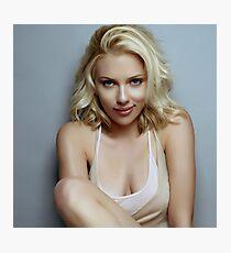Scarlett Johansson Photographic Print