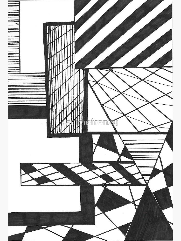 Dessin Noir Et Blanc Abstrait Carte De Vœux