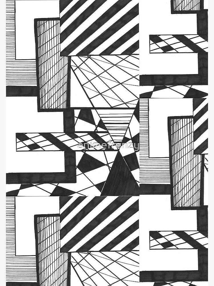 Dessin Noir Et Blanc Abstrait Cahier à Spirale