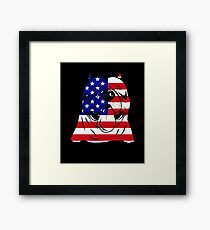 AMERICAN PITBULL USA FLAG 4TH OF JULY INDEPENDENCE DAY Framed Print