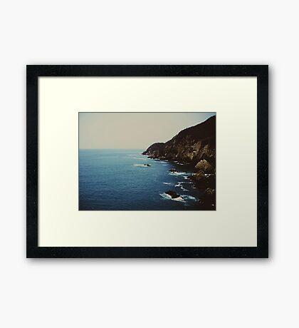 La Quebrada  Framed Print