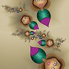 Chic Balloon Ladies in the Evening by lacitrouille