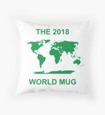 The 2018 World Mug Throw Pillow