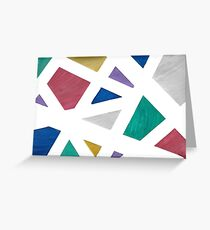 Abstract Color Drawing Greeting Card