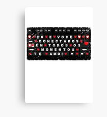love keyboard, T Shirt  Me and you are connected at all times Canvas Print