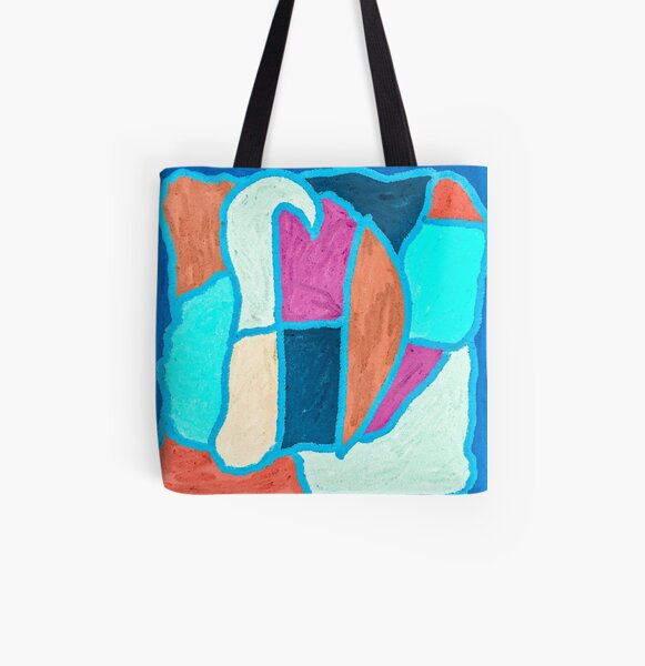 Hopscotch in the Rain All Over Print Tote Bag