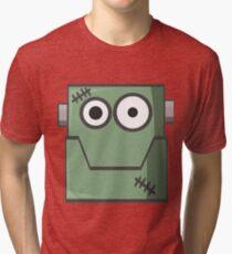 Cartoon Frankenstein Tri-blend T-Shirt