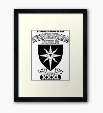 Xcrawl Necromancers Guild Framed Print