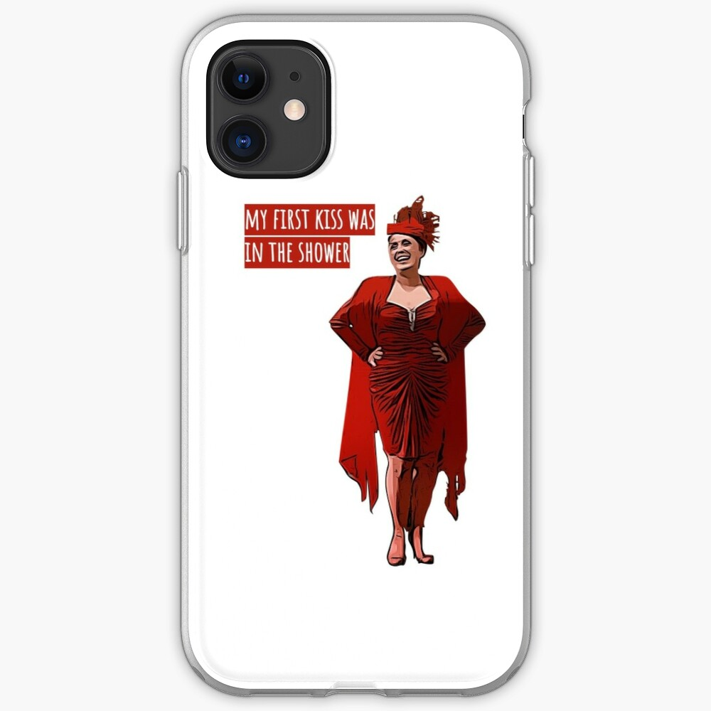 My First Kiss Was In The Shower Iphone Case Cover By Citydust Redbubble