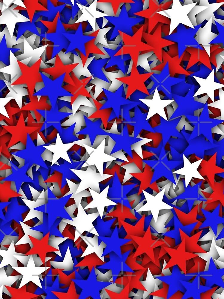 Blue, red, white stars  by dima-v