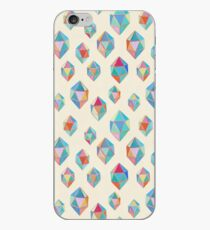 Floating Gems - a pattern of painted polygonal shapes iPhone Case