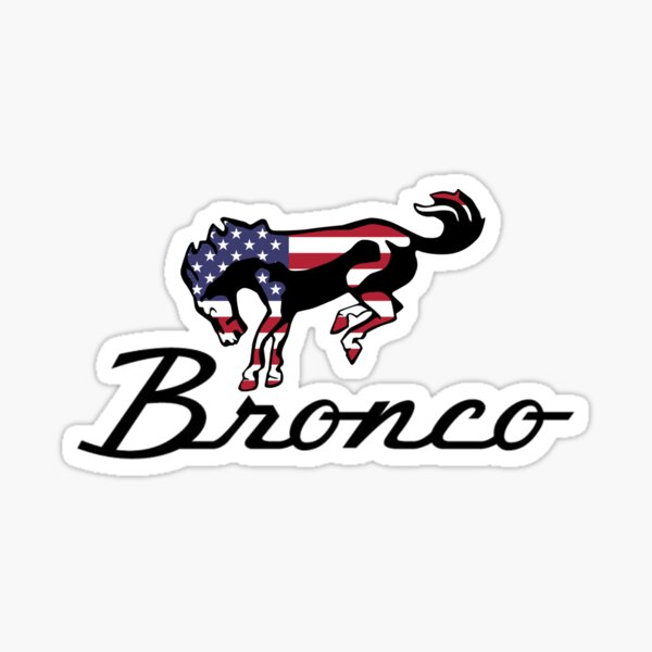 Ford Bronco Americana Sticker