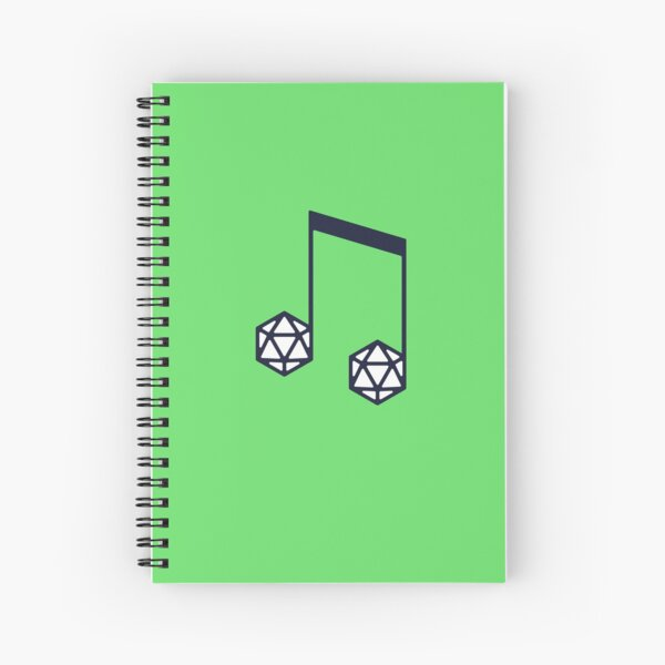 bomBARDed Logo No Text Spiral Notebook