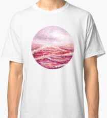 Pink Sea - Round - Watercolour Painting Classic T-Shirt