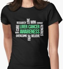Words - Liver Cancer Awareness Gift Women's Fitted T-Shirt