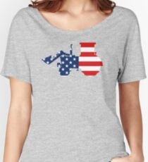 Patriotic American Loading Vehicle Design Women's Relaxed Fit T-Shirt