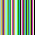 Vivid Neon Vertical Stripes 3 by J-CCreations