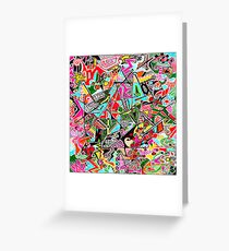 Static Nature multi-coloured Greeting Card
