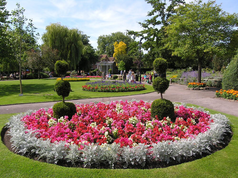 The Abbey Gardens in high summer, Winchester, southern England by Philip Mitchell