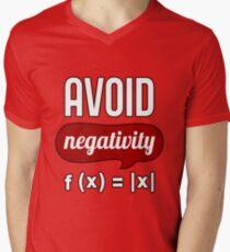 Avoid Negativity T-Shirt - Science T-Shirt Men's V-Neck T-Shirt