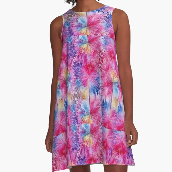 Blooms A-Line Dress