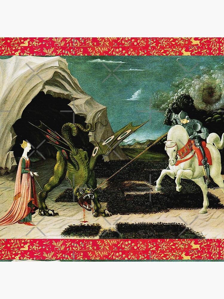 Saint George, Dragon and Princess by BulganLumini