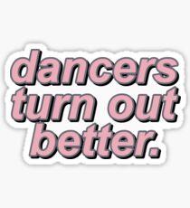Pegatina los bailarines salen mejor