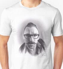 Realism Charcoal Drawing of Artist Damon Lucas Farkas Unisex T-Shirt
