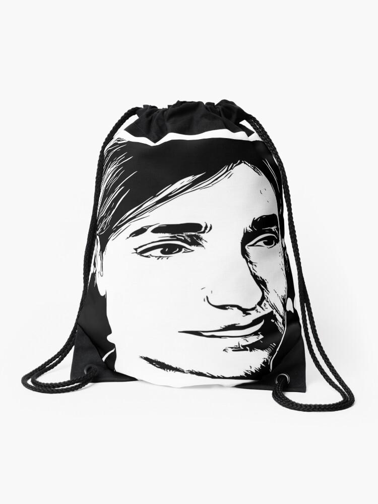 Unedited The Last Of Us 2 Ellie Smiling Drawstring Bag