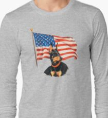 "Camiseta de manga larga ""Hogar de los valientes"""