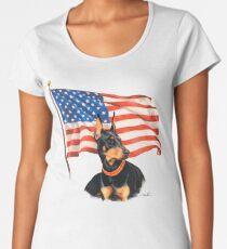 """Home of the Brave"" Women's Premium T-Shirt"