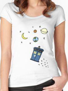Little Tardis  Women's Fitted Scoop T-Shirt