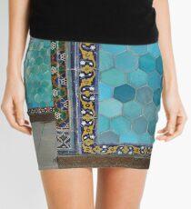 Bukhara Blue (1) Mini Skirt