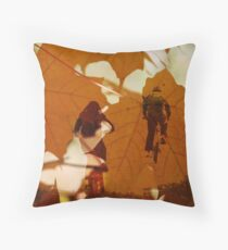 Bicycle Trail Throw Pillow
