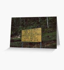 Papua New Guinea Road Sign Greeting Card