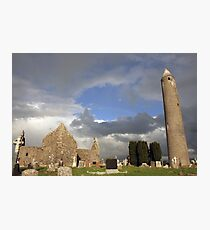 Kilmacduagh round tower Photographic Print