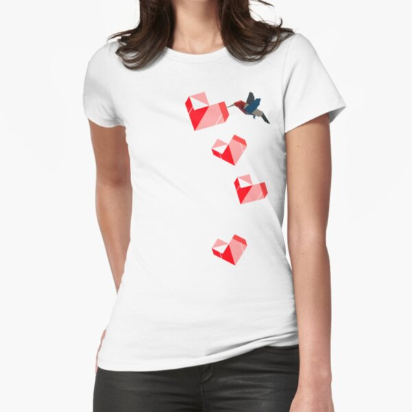 Humming Love Bird Fitted T-Shirt