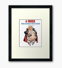 #MAGA - Dune Framed Print