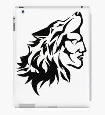Native Warrior with Wolf Headdress iPad Case/Skin