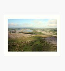 Burren view Art Print