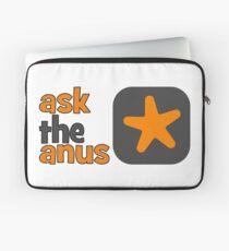 Ask The Anus Logo Laptop Sleeve