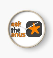 Ask The Anus Logo Clock