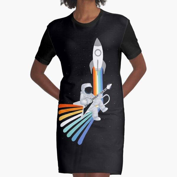 Space Rock-et Man Graphic T-Shirt Dress