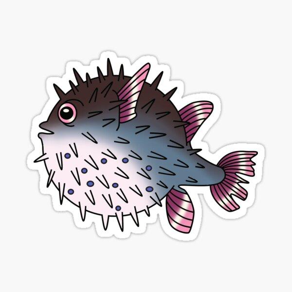 Pink Pufferfish Sticker