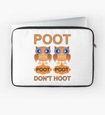 Two Poots not Two Hoots Laptop Sleeve