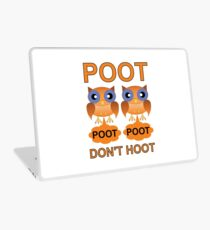 Two Poots not Two Hoots Laptop Skin