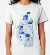 Santorini island in the Greece Classic T-Shirt