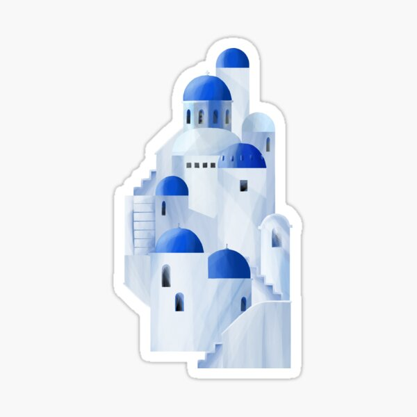 Santorini island in the Greece Sticker